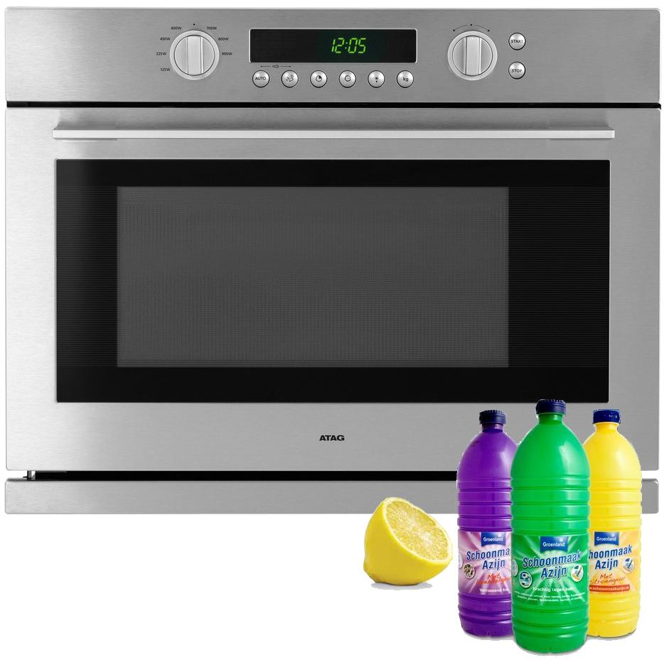 Maakt je oven en magnetron schoon met schoonmaakazijn