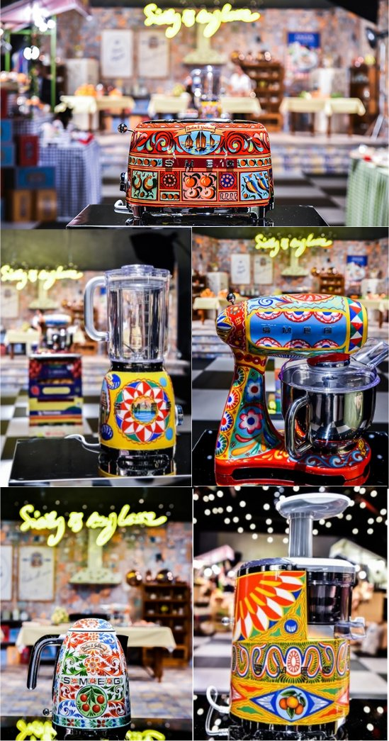 Smeg Broodroosters, citrus juicers, koffiezetapparaten, waterkokers, blenders, stand mixers